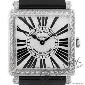 フランクミュラー マスタースクエア ダイヤ クロコレザー 腕時計 レディース FRANCK MULLER 6002 M B QZ R D 1R[FM6002MQZDSSSLENBK]