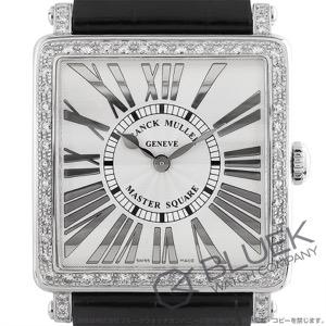 フランクミュラー マスタースクエア レリーフ ダイヤ クロコレザー 腕時計 レディース FRANCK MULLER 6002 M B QZ REL R D 1R