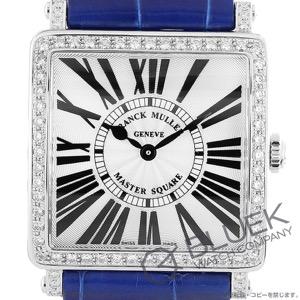 フランクミュラー マスタースクエア ダイヤ クロコレザー 腕時計 レディース FRANCK MULLER 6002 M B QZ R D 1R [FM6002MQZDSSSLENBL]