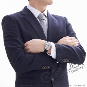 フランクミュラー トノーカーベックス プラチナローター クロコレザー 腕時計 メンズ FRANCK MULLER 6850 B SC DT RA[FM6850SCPRSSSLLZBK]