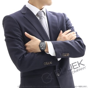 フランクミュラー トノーカーベックス ブラッククロコ クロコレザー 腕時計 メンズ FRANCK MULLER 7880 SC BLK CRO