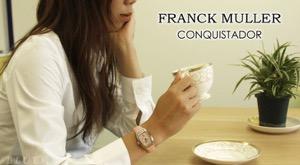 フランクミュラー コンキスタドール WG金無垢 クロコレザー 腕時計 レディース FRANCK MULLER 8002 DT