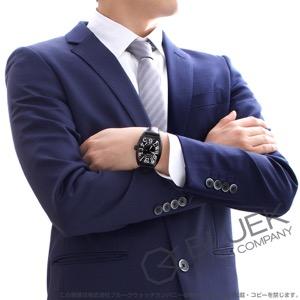 フランクミュラー トノーカーベックス ブラッククロコ クロコレザー 腕時計 メンズ FRANCK MULLER 8880 SC BLK CRO[FM8880SCBCNRBKENBK]