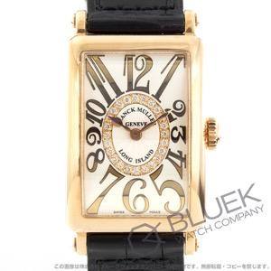 フランクミュラー ロングアイランド レリーフ ダイヤ PG金無垢 クロコレザー 腕時計 レディース FRANCK MULLER 902 QZ REL CD 1R