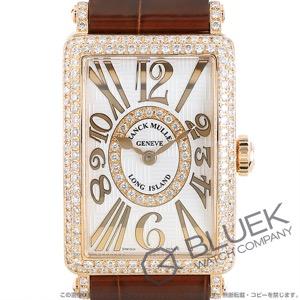 フランクミュラー ロングアイランド アンサンブル レリーフ ダイヤ PG金無垢 クロコレザー 腕時計 レディース FRANCK MULLER 902 QZ REL V-R D CD 1R