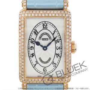フランクミュラー ロングアイランド クロノメトロ ダイヤ PG金無垢 クロコレザー 腕時計 レディース FRANCK MULLER 902 QZ D CHRONOMETRO