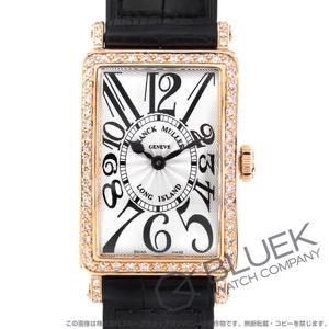 フランクミュラー ロングアイランド ダイヤ PG金無垢 クロコレザー 腕時計 レディース FRANCK MULLER 902 QZ D 1R