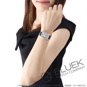 フランクミュラー ロングアイランド レリーフ ダイヤ クロコレザー 腕時計 レディース FRANCK MULLER 902QZ D 1R