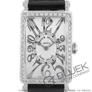 フランクミュラー ロングアイランド レリーフ ダイヤ クロコレザー 腕時計 レディース FRANCK MULLER 902 QZ REL D 1R[FM902QZDSSSLENBKR]