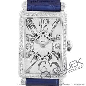 フランクミュラー ロングアイランド レリーフ ダイヤ クロコレザー 腕時計 レディース FRANCK MULLER 902 QZ REL D1R[FM902QZDSSSLENBLR]