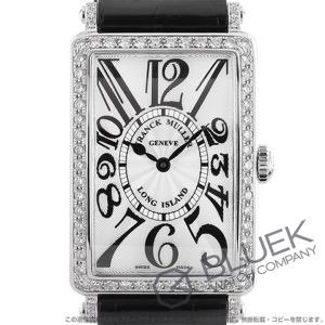 フランクミュラー ロングアイランド ダイヤ クロコレザー 腕時計 レディース FRANCK MULLER 952 QZ D 1R[FM952QZDSSSLENBK]