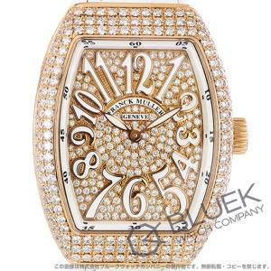 フランクミュラー ヴァンガード レディ ダイヤ PG金無垢 クロコレザー 腕時計 レディース FRANCK MULLER V32 QZ D CD 5N BC