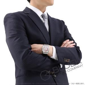 フランクミュラー ヴァンガード クロコレザー 腕時計 メンズ FRANCK MULLER V41 SC DT AC RG[FMV41SCSSWHRDLZBK]