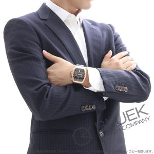 フランクミュラー ヴァンガード クロノグラフ PG金無垢 クロコレザー 腕時計 メンズ FRANCK MULLER V45 CC DT 5N BR NR[FMV45CCBRPGBKLZBK]