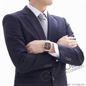 フランクミュラー ヴァンガード クロノグラフ PG金無垢 クロコレザー 腕時計 メンズ FRANCK MULLER V 45 CC DT 5N BR NR