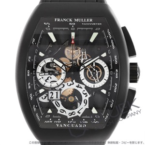 フランクミュラー ヴァンガード グランデイト クロノグラフ クロコレザー 腕時計 メンズ FRANCK MULLER V 45 CC GD SQT TT NR BR NR[FMV45CCGDBRTINRBKLZBK]