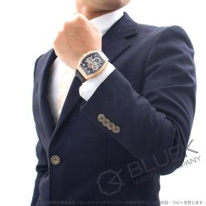 フランクミュラー ヴァンガード グランデイト クロノグラフ PG金無垢 クロコレザー 腕時計 メンズ FRANCK MULLER V 45 CC GD SQT