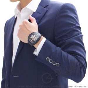 フランクミュラー ヴァンガード グランデイト クロノグラフ クロコレザー 腕時計 メンズ FRANCK MULLER V 45 CC GD SQT TT NR BR 5N