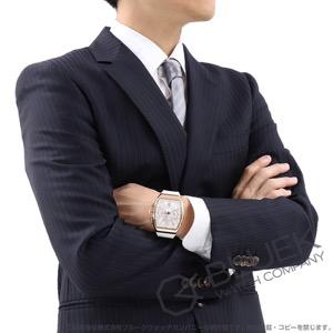 フランクミュラー ヴァンガード クロノグラフ PG金無垢 クロコレザー 腕時計 メンズ FRANCK MULLER V 45 CC DT 5N BC[FMV45CCPGWHLZWH]