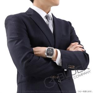 フランクミュラー ヴァンガード クロノグラフ クロコレザー 腕時計 メンズ FRANCK MULLER V45 CC DT AC BR NR[FMV45CCSSBRBKLZBK]