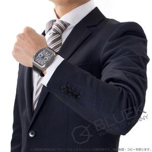 フランクミュラー ヴァンガード クロノグラフ クロコレザー 腕時計 メンズ FRANCK MULLER V 45 CC DT TT BR NR