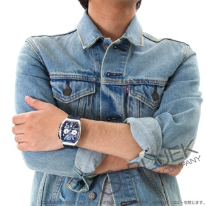 フランクミュラー ヴァンガード ヨッティング クロノグラフ 腕時計 メンズ FRANCK MULLER V 45 CC DT YACHTING[FMV45CCYTSSBLRUBL]