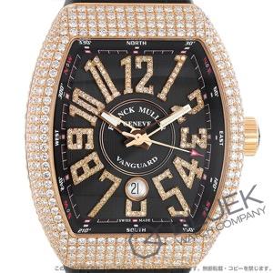 フランクミュラー ヴァンガード ダイヤ PG金無垢 クロコレザー 腕時計 メンズ FRANCK MULLER V45 SC DT D NBR CD 5N NR