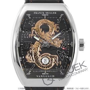 フランクミュラー ヴァンガード ゴールドドラゴン 世界限定88本 クロコレザー 腕時計 メンズ FRANCK MULLER V 45 SC DT STG AC 5N GOLD DRAGON