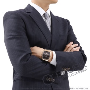 フランクミュラー ヴァンガード PG金無垢 クロコレザー 腕時計 メンズ FRANCK MULLER V45 SC DT 5N NR[FMV45SCPGBKLZBK]