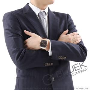 フランクミュラー ヴァンガード PG金無垢 クロコレザー 腕時計 メンズ FRANCK MULLER V 45 SC DT 5N NR[FMV45SCPGBKLZBR]