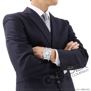 フランクミュラー ヴァンガード クロコレザー 腕時計 メンズ FRANCK MULLER V 45 SC DT AC BU