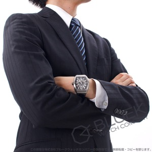 フランクミュラー ヴァンガード クロコレザー 腕時計 メンズ FRANCK MULLER V 45 SC DT[FMV45SCSSGYLZBK]