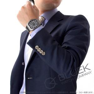 フランクミュラー ヴァンガード クロコレザー 腕時計 メンズ FRANCK MULLER V45 SC DT TT BR NR[FMV45SCTIGYLZBK]