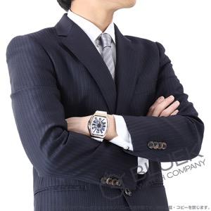 フランクミュラー ヴァンガード ヨッティング PG金無垢 クロコレザー 腕時計 メンズ FRANCK MULLER V45 SC DT 5N BL YACHTING