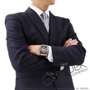 フランクミュラー ヴァンガード ヨッティング PG金無垢 クロコレザー 腕時計 メンズ FRANCK MULLER V 45 SC DT 5N NR YACHTING