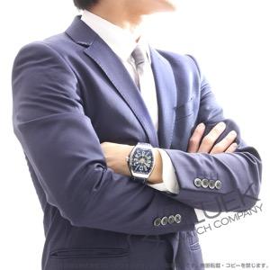 フランクミュラー ヴァンガード ヨッティング クロコレザー 腕時計 メンズ FRANCK MULLER V 45 SC DT AC BL YACHTING[FMV45SCYTSSBLLZBLCR]