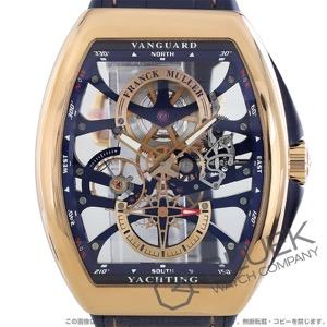 フランクミュラー ヴァンガード ヨッティング アンカースケルトン PG金無垢 クロコレザー 腕時計 メンズ FRANCK MULLER V45 S6 SQT 5N BL YACHTING ANC