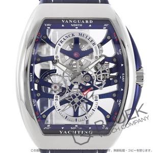 フランクミュラー ヴァンガード ヨッティング アンカースケルトン クロコレザー 腕時計 メンズ FRANCK MULLER V45 S6 SQT YACHTING[FMV45TYTSQT7DPLSSSLBLLZBL]