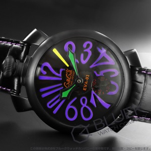 ガガミラノ マヌアーレ48MM EVANGELION エヴァンゲリオン 初号機モデル 世界限定300本 腕時計 メンズ GaGa MILANO 5012-EVA