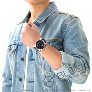 ガガミラノ シン クロノ46MM クロノグラフ リザードレザー 腕時計 メンズ GaGa MILANO 5097.01BK