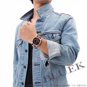 ガガミラノ シン クロノ46MM クロノグラフ リザードレザー 腕時計 メンズ GaGa MILANO 5098.03LBW
