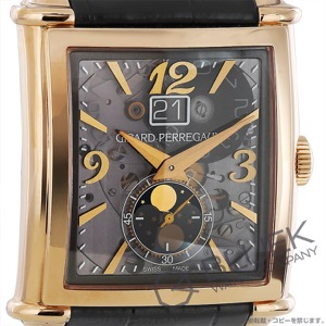 ジラールペルゴ ヴィンテージ 1945 XXL ムーンフェイズ PG金無垢 アリゲーターレザー 腕時計 メンズ Girard-Perregaux 25882-52-222-BB6B