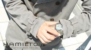 ハミルトン カーキ キング キャンパスレザー 腕時計 メンズ HAMILTON H64451823