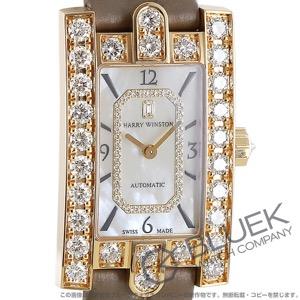 ハリーウィンストン アヴェニュー クラシック ダイヤ アリゲーターレザー 腕時計 レディース Harry Winston AVEAHM21RR001