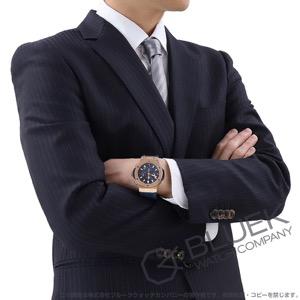 ウブロ ビッグバン ゴールド ブルー クロノグラフ RG金無垢 アリゲーターレザー 腕時計 メンズ HUBLOT 301.PX.7180.LR