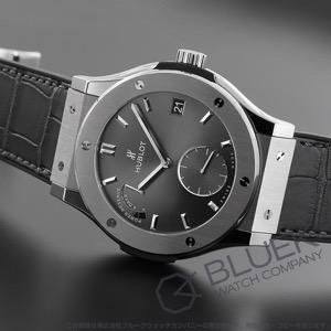 ウブロ クラシック フュージョン 8デイズ チタニウム レーシンググレー パワーリザーブ アリゲーターレザー 腕時計 メンズ HUBLOT 516.NX.7070.LR