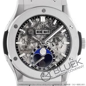 ウブロ クラシック フュージョン アエロ フュージョン チタニウム ムーンフェイズ アリゲーターレザー 腕時計 メンズ HUBLOT 517.NX.0170.LR