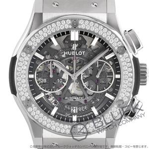ウブロ クラシック フュージョン アエロ フュージョン チタニウム クロノグラフ ダイヤ アリゲーターレザー 腕時計 メンズ HUBLOT 525.NX.0170.LR.1104
