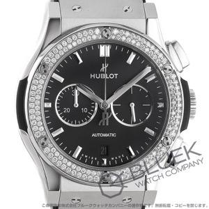 ウブロ クラシック フュージョン チタニウム クロノグラフ ダイヤ アリゲーターレザー 腕時計 メンズ HUBLOT 541.NX.1171.LR.1104