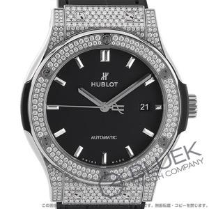 ウブロ クラシック フュージョン チタニウム パヴェ ダイヤ アリゲーターレザー 腕時計 メンズ HUBLOT 542.NX.1171.LR.1704
